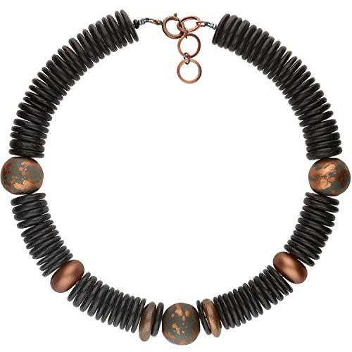 langani Halskette Vintage Damen-Kette - Die mit der schwarzen Perle - Handmade Since 1952