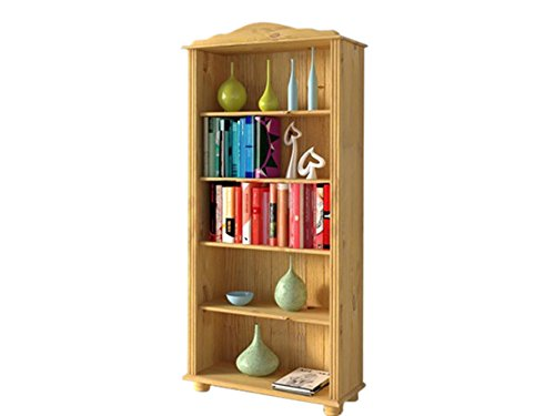 Loft24 J\u0027Adore Regal Bücherregal Standregal Holzregal Aktenregal  Landhausstil Kiefer Massivholz (gebeizt Geölt