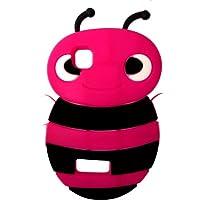 SKS Distribution® rosa caldo Bumble Bee Custodia in silicone / Cover / Case per Nokia Asha 200 - Rosa Bumble Bee