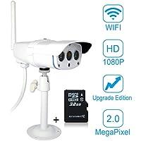 Vstarcam C16S HD 1080P Impermeable IP Cámara de Vigilancia Seguridad Exterior Inalámbrico CCTV Cámara de Seguridad con Visión Nocturna para Bebé y Mascotas (Incluido 32G Tarjeta de Memoria Dedicada)