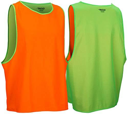 Avento Wende Trainingsleibchen Länge 72cm Weite 60cm grün-orange
