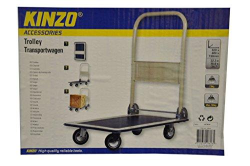 KINZO Werkstatt Wagen Transport Karre klappbar bis 150 kg