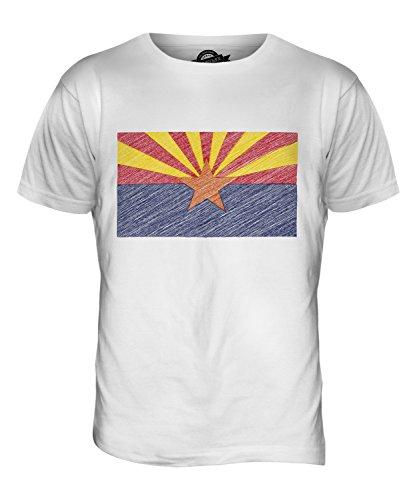 CandyMix Bundesstaat Arizona Kritzelte Flagge Herren T Shirt Weiß