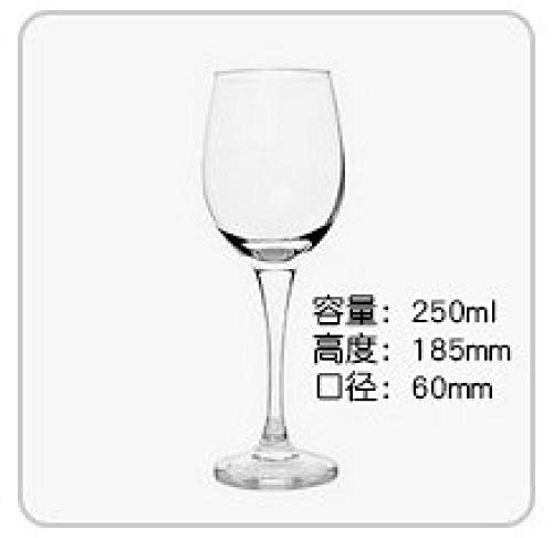 Glass red wine glass lead-free transparent goblet red wine cup set gift box beautiful long stem clear and modern glassware@250ml - Lead-free Crystal Stemware