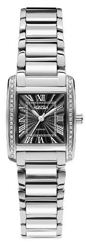 Roamer 507845 45 53 50 - Reloj analógico de cuarzo para mujer con correa de acero inoxidable, color plateado