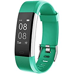 YAMAY Pulsera Actividad con Pulsómetro Mujer Hombre, Monitor de Actividad Deportiva, Ritmo Cardíaco, Impermeable IP67, Reloj Fitness, smartwatch con Podómetro, Color Verde
