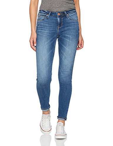 Lee Damen Skinny Jeans Scarlett Blau (Midtown Blues Haoe), W27/L33