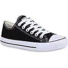 Stiefelparadies Damen Schuhe Sneakers Turnschuhe Klassische Low Top