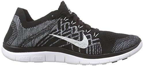 Nike - Free 4.0 Flyknit, Sneakers da uomo Nero (black/white-wolf grey-drk grey 001)