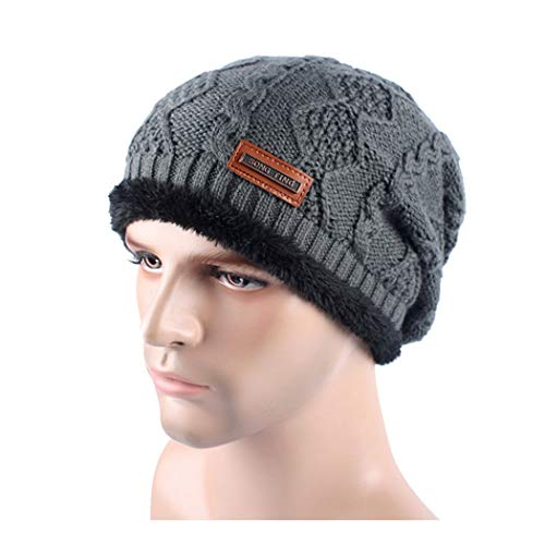 DAMENGXIANG Herbst Winter Stricken Outdoor Warm Cap Männer Freizeit Mode Plus Samt Verdic