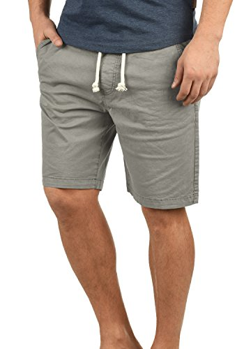 Indicode Abbey Herren Chino Shorts Bermuda Kurze Hose Aus Stretch-Material Regular Fit, Größe:XL, Farbe:Light Grey (901)