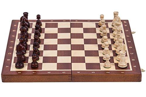 Square - Ajedrez de Madera Nº 4 - Caoba - Tablero de ajedrez + Staunton 4