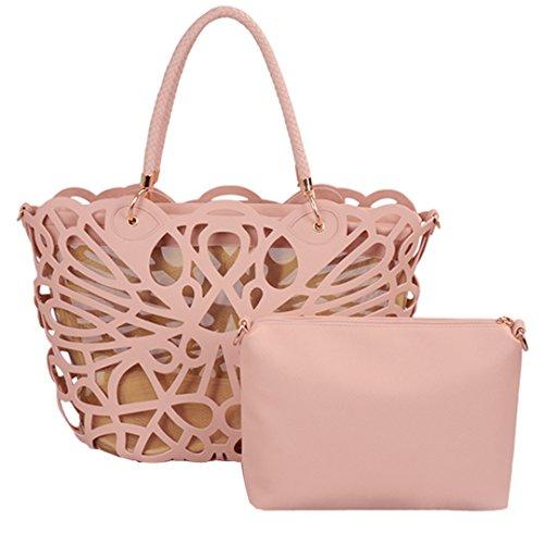 Millya, Borsa a mano donna, beige (beige) - kb-00288-03 pink