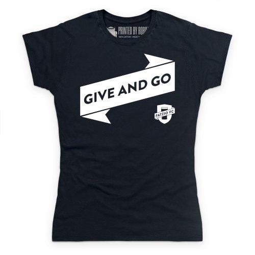 Fatzio FC Give And Go T-Shirt, Damen Schwarz