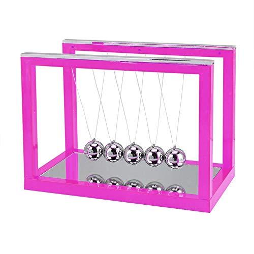 AUNMAS Wiege Stahl Balance Ball Desktop Ornament Swing Ball Schreibtischzubehör Geburtstagsgeschenk Home Decor(2#) - Eisen-baby-wiege