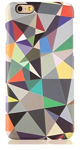 "licaso® iPhone 6 6S 4,7"" Hülle Affe Geometrisch Polycarbonat iPhone Case Schutzhülle 3D Soft Touch iPhone Hülle Rubber Design Tasche iphone6 mehrfarbig PC (iPhone 6 6S 4.7"", Affe) kleine Dreiecke"