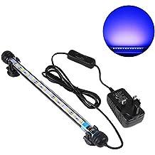 UEETEK 28CM LED Pecera Luces de iluminación del acuario 5050 SMD RGB Barra de Luz Subacuática