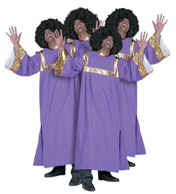 Herrenkostüm Gospelsänger, Gr. 60 (60-musiker-kostüm)