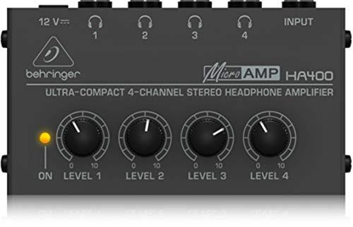 Behringer Microamp HA400 Amplificatore Per Cuffie Stereo a 4 Canali