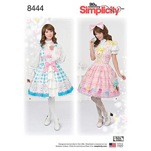Simplicity 8444Pattern 8444 Damen Lolita-Kostüm, Papier, Weiß, D5 ()