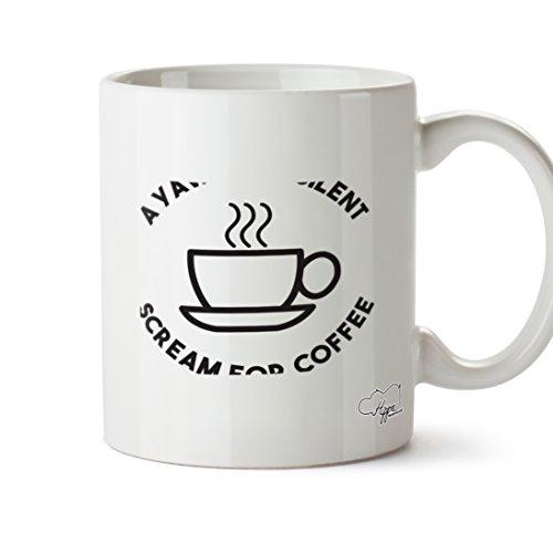 hippowarehouse ein Gähnen ist ein Geheimnis Scream für Kaffee 283,5Tasse, keramik, weiß, One Size (10oz)