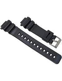 fd7553a79c51 Cinturino di ricambio nero da 16 mm in resina e PVC per orologi Casio G-
