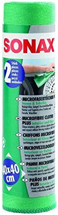 Sonax Microfibre, Green - 2 Pieces