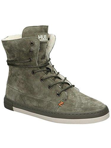 Sneaker Alto Da Donna Hub Vermont High N30 Verde