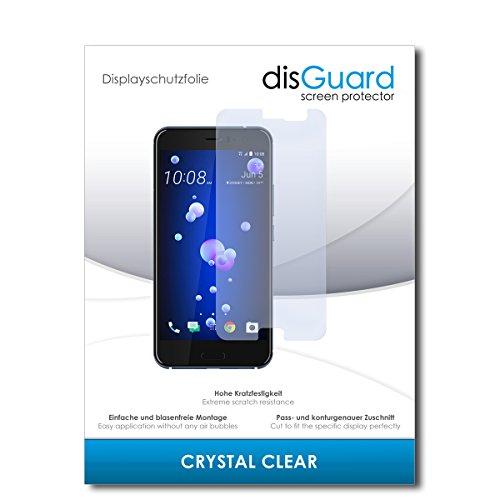 disGuard® Bildschirmschutzfolie [Crystal Clear] kompatibel mit HTC U11 [2 Stück] Kristallklar, Transparent, Unsichtbar, Extrem Kratzfest, Anti-Fingerabdruck - Panzerglas Folie, Schutzfolie