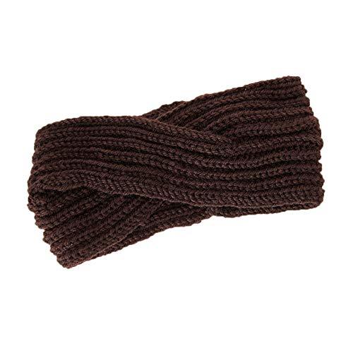 Neu Kreuz Häkelarbeit Gestrickt Stirnband Damen Haarband, LEEDY Mädchen Warme Wolle Einfarbig Retro Gehörschutz Verdrehen Hut Kopfband Headband Stirnbänder Kopfbedeckung