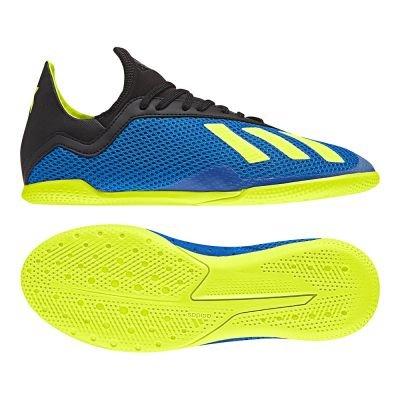 adidas Unisex-Erwachsene X Tango 18.3 In J Futsalschuhe, Blau (Fooblu/Amasol/Negbás 000), 38 2/3 EU