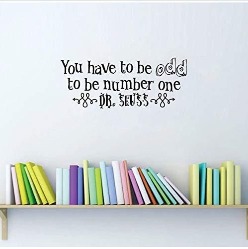 isch Sein, um die Nummer eins Budget Aufkleber Vinyl Wandaufkleber für Kinderzimmer Schlafzimmer Wohnkultur 30 cm x 76 cm ()