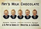 Moonlizard Fry S Milch Schokolade Vintage Werbung Metall 20,3x 15,2cm