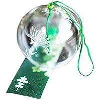Name japonés hecho a mano de campanas de viento texto de corazones Day Regalo de dientes de Home Kitchen de dientes de Spa de dientes de Garden de dientes de ventana de dientes de lámpara de techo para interiores ruidosos Decor (Chrysanthemum)