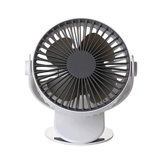 Erosffs Mini Ventilatore, USB o Batteria funzionante Mini Ventilatore Personale, Clip su Ventilatore per Tapis roulant, Ufficio, dormitorio, casa e all'aperto (Colore : B)