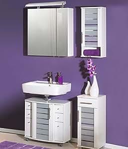 Ensemble de 4 pièces composé de meuble de blanc, largeur :  30 cm, meuble, largeur :  30 cm, meuble, largeur :  65 cm, armoire dimensions :  65 cm