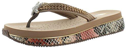 Perizoma da donna strass trifoglio volatili Eva Sandali, oro (Gold), 39
