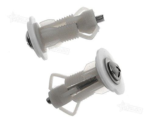 Generic.. P, 2pcs herramienta de parte superior Top Co Asiento para el inodoro d S WC estor Fixi tapa protectora tting B agujero montaje tornillos tornillos..