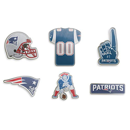 9fa6b324aff7 Forever Collectibles New England Patriots Team Logo NFL 6-Piece Pin Badge  Set