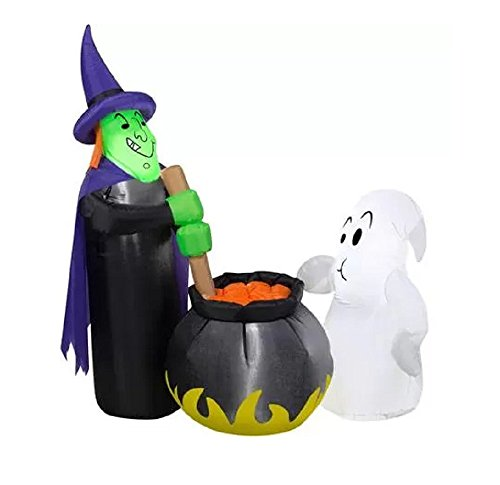 Airblown Halloween aufblasbar Witch 's Brew Witch Cauldron -