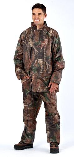 PRO Climate–Veste + Pantalon imperméable pour homme étanche Camouflage Pêche chasse Vêtements Set M L XL XXL Marron - Marron