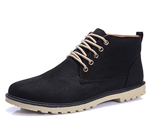 Mens Winter Lace-up Ankle Boots Black