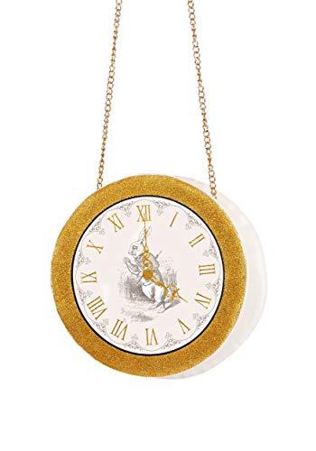 Kostüm Rabbit Hole - FUN Costumes Womens White Rabbit Clock Purse Standard