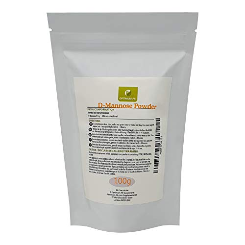 Polvere di D-Mannosio Puro Premium - Integratore UK di Alta Qualità per Vescica e Reni - Sollievo per Cistite e Infezione del Tratto Urinario (UTI)
