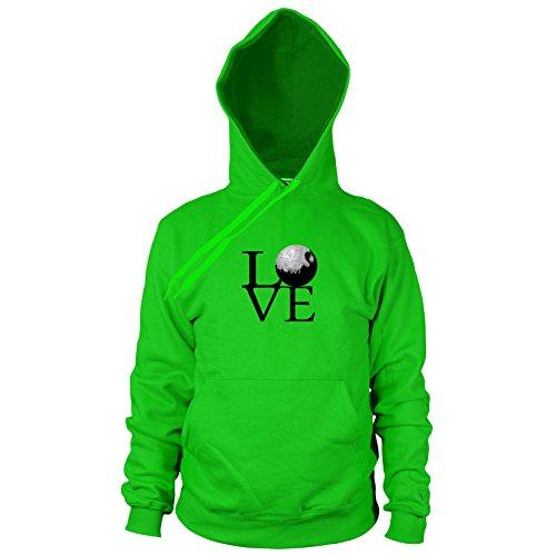 Preisvergleich Produktbild Todesstern Love - Herren Hooded Sweater, Größe: XXL, Farbe: grün