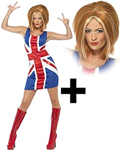 Celebrity Halloween - Ginger Spice + perruque Mesdames Celebrity Halloween