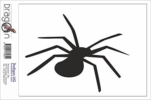 Black Dragon - T-Shirt Herren - JDM / Die cut - Spinne Spider Silhouette Weiß