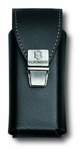 Victorinox Zubehör Gürteltasche Leder mit Steckverschluss für Swiss Tool Plus Mantel, schwarz, One Size Tasche Mäntel