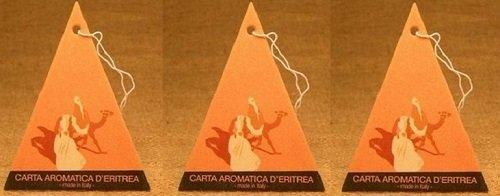 DHANVANTARI - 3 CONFEZIONI DI CARTA D'ERITREA PROFUMATORE PER AUTO deodorante per piccoli spaz