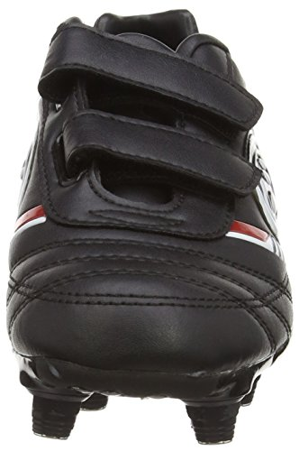 Optimum Tribal, Chaussures de Football Garçon Noir (Black/Red)